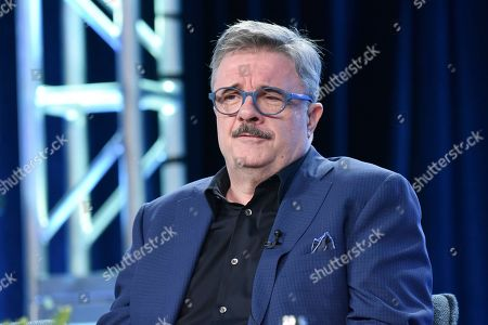 """Nathan Lane participates in The Showtime """"Penny Dreadful: City of Angels"""" panel during the Winter 2020 Television Critics Association Press Tour, in Pasadena, Calif"""