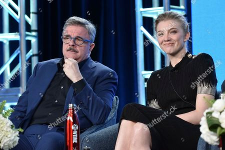 """Nathan Lane, Natalie Dormer. Nathan Lane, left, and Natalie Dormer participate in The Showtime """"Penny Dreadful: City of Angels"""" panel during the Winter 2020 Television Critics Association Press Tour, in Pasadena, Calif"""