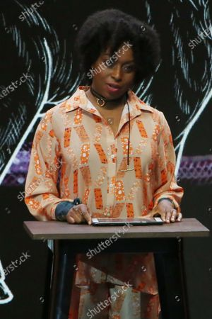 The Nigerian writer and feminist Chimamanda Ngozi Adichie offers a keynote speech, during the inauguration of the Congreso Futuro 2020, in Santiago, Chile, 13 January 2020. The Congreso Futuro 2020 is a space in which more than 100 Chilean and international speakers address innovation issues, the frontier in various disciplines or ethical challenges, with the presence of Nigerian writer Chimamanda Ngozi Adichie.