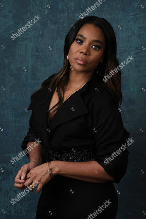 """Regina Hall, a cast member in the Showtime series """"Black Monday,"""" poses for a portrait during the 2020 Showtime Winter Television Critics Association Press Tour, in Pasadena, Calif"""