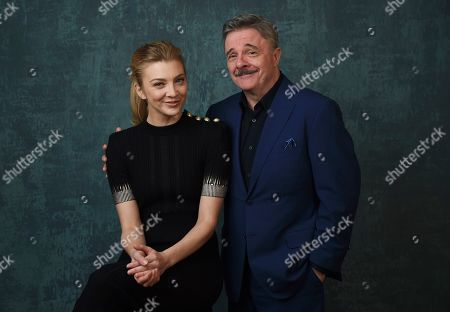 """Nathan Lane, Natalie Dormer. Natalie Dormer, left, and Nathan Lane, cast members in the Showtime series """"Penny Dreadful: City of Angels,"""" pose together for a portrait during the 2020 Showtime Winter Television Critics Association Press Tour, in Pasadena, Calif"""