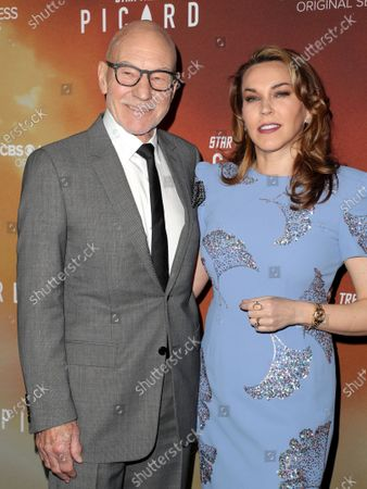 Sir Patrick Stewart and Sunny Ozell
