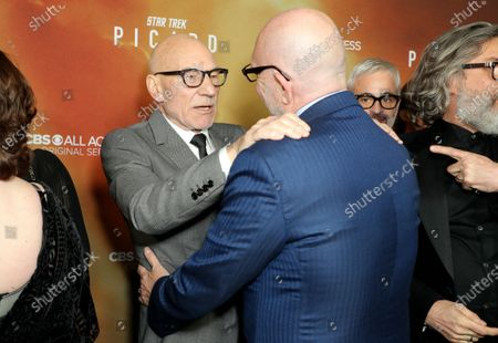 Sir Patrick Stewart and Akiva Goldsman
