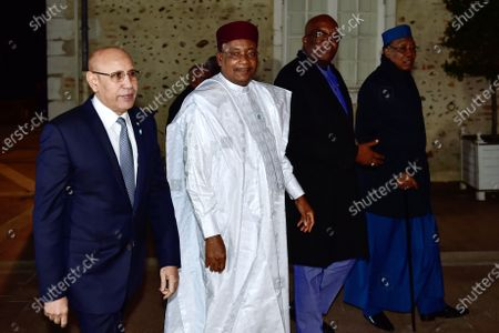 (From L) Mauritanian President Mohamed Ould Ghazouani, Nigerien President Mahamadou Issoufou, Burkinabe President Roch Marc Christian Kabore and Chadian President Idriss Deby leave the Chateau de Pau after a meeting as part of the G5 Sahel summit to discuss the continuing anti-jihadist fight in the African region of Sahel, in Pau, France, 13 January 2020. France and its five partner nations in the Sahel region of West Africa pledged on January 13 to bolster their fight against jihadists waging an increasingly deadly insurgency, while urging allies to join their effort to restore government control across the vast region.