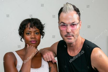 Michael Fitzpatrick, Noelle Scaggs, Fitz and the Tantrums. Noelle Scaggs, left, and Michael Fitzpatrick, both members of the pop band Fitz and the Tantrums, pose for a portrait at the Associated Press Los Angeles bureau