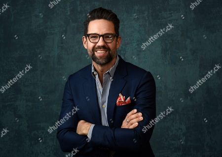 """Todd Grinnell, a cast member in the Pop TV series """"One Day at a Time,"""" poses for a portrait during the 2020 Winter Television Critics Association Press Tour, in Pasadena, Calif"""