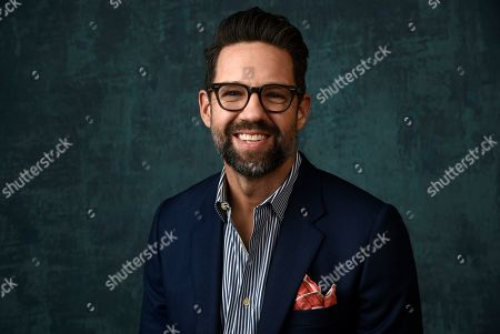"""Stock Picture of Todd Grinnell, a cast member in the Pop TV series """"One Day at a Time,"""" poses for a portrait during the 2020 Winter Television Critics Association Press Tour, in Pasadena, Calif"""