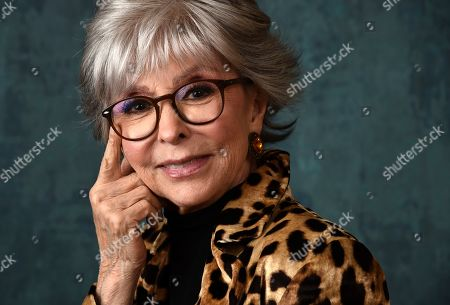 """Rita Moreno, a cast member in the Pop TV series """"One Day at a Time,"""" poses for a portrait during the 2020 Winter Television Critics Association Press Tour, in Pasadena, Calif"""