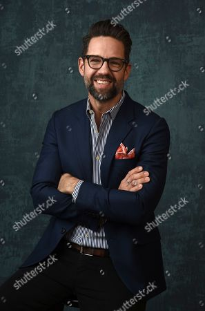 """Stock Image of Todd Grinnell, a cast member in the Pop TV series """"One Day at a Time,"""" poses for a portrait during the 2020 Winter Television Critics Association Press Tour, in Pasadena, Calif"""