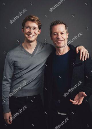 Stock Image of Joe Alwyn, Guy Pearce. Joe Alwyn, left, and Guy Pearce pose for a portrait in New York