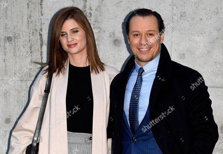 Stock Photo of Stefano Accorsi and Bianca Vitali