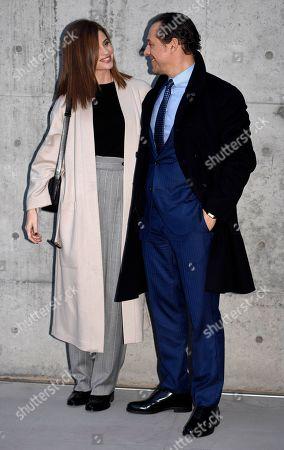 Stefano Accorsi and Bianca Vitali