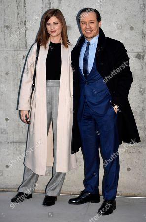 Editorial picture of Giorgio Armani show, Arrivals, Autumn Winter 2020, Milan Fashion Week Men's, Italy - 13 Jan 2020