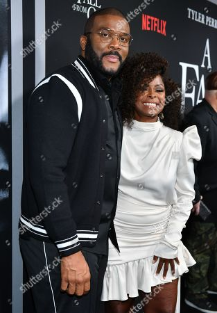Stock Picture of Tyler Perry and Crystal Foxx