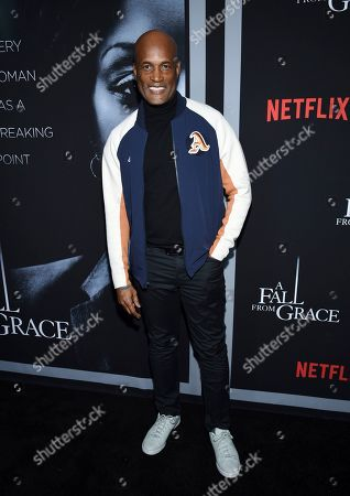 """Kenny Leon attends the premiere of Tyler Perry's """"A Fall from Grace,"""" at Metrograph, in New York"""