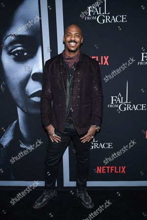 """Mehcad Brooks attends the premiere of Tyler Perry's """"A Fall from Grace,"""" at Metrograph, in New York"""