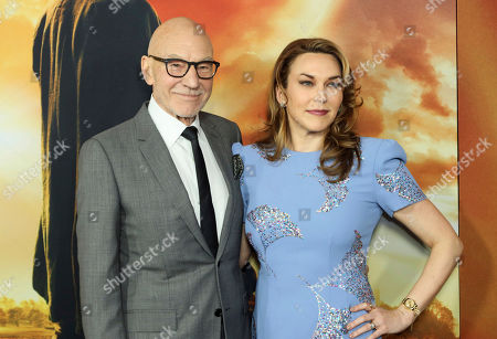 """Patrick Stewart, Sunny Ozell. Sir Patrick Stewart, left, and his wife, Sunny Ozell, attend the LA Premiere of """"Star Trek: Picard,"""" at the ArcLight Hollywood, in Los Angeles"""