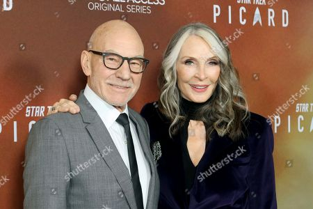 "Gates McFadden, Patrick Stewart. Sir Patrick Stewart, left, and Star Trek cast mate Gates McFadden attend the LA Premiere of ""Star Trek: Picard,"" at the ArcLight Hollywood, in Los Angeles"