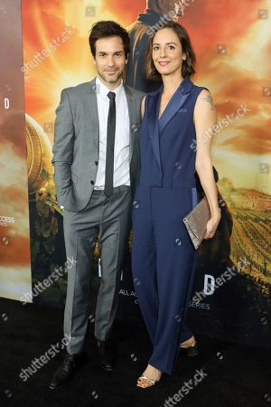 "Santiago Cabrera, Anna Marcea. Santiago Cabrera, left, and Anna Marcea attend the LA Premiere of ""Star Trek: Picard"" at the ArcLight Hollywood, in Los Angeles"