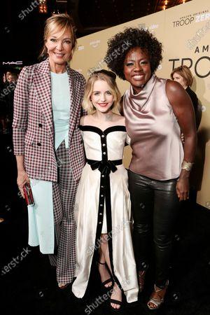 Allison Janney, Mckenna Grace and Viola Davis