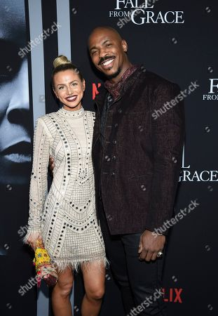 """Stock Picture of Frida Kardeskog, Mehcad Brooks. Actor Mehcad Brooks, right, and girlfriend Frida Kardeskog attend the premiere of Tyler Perry's """"A Fall from Grace"""" at Metrograph, in New York"""