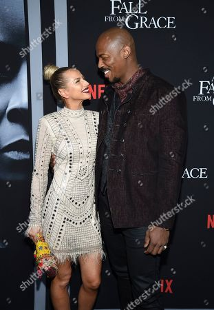 """Frida Kardeskog, Mehcad Brooks. Actor Mehcad Brooks, right, and girlfriend Frida Kardeskog attend the premiere of Tyler Perry's """"A Fall from Grace"""" at Metrograph, in New York"""