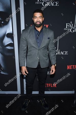 """Stock Image of David Otunga attends the premiere of Tyler Perry's """"A Fall from Grace"""" at Metrograph, in New York"""