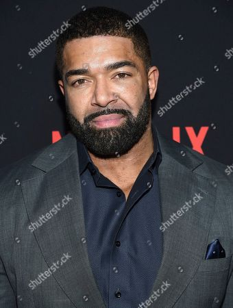 """Stock Photo of David Otunga attends the premiere of Tyler Perry's """"A Fall from Grace"""" at Metrograph, in New York"""