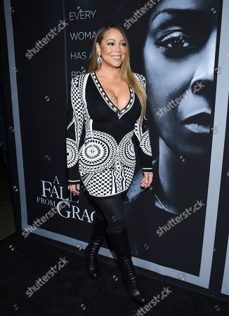 """Mariah Carey attends the premiere of Tyler Perry's """"A Fall from Grace"""" at Metrograph, in New York"""