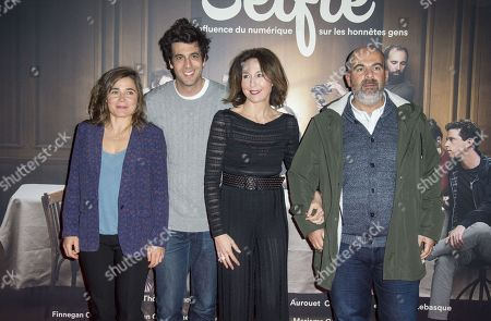 Stock Picture of Blanche Gardin, Max Boublil, Elsa Zylberstein and Marc Fitoussi