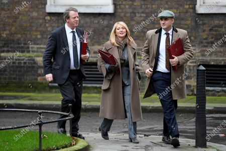Alister Jack, Secretary of State for Scotland, Esther McVey, Housing Minister and Jake Berry, Minister of State for the Northern Powerhouse, arriving at No.10 Downing Street, London.