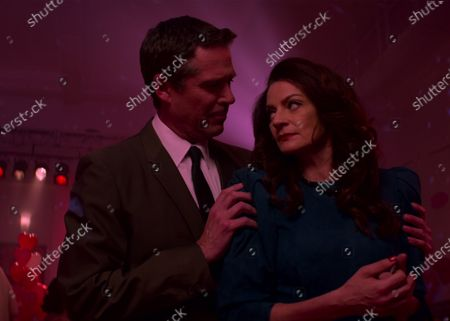 Alexis Denisof as Adam Marsters and Michelle Gomez as Mary Wardwell