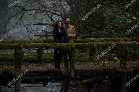 Michelle Gomez as Mary Wardwell and Alexis Denisof as Adam Marsters
