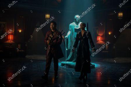 Chance Perdomo as Ambrose Spellman and Tati Gabrielle as Prudence Night