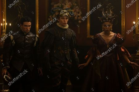 Gavin Leatherwood as Nicholas Scratch, Ross Lynch as Harvey Kinkle and Jaz Sinclair as Rosalind Walker