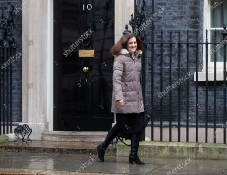 Theresa Villiers, Secretary of State for Environment, Food and Rural Affairs, leaves after the Cabinet meeting in Downing Street.