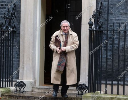 Geoffrey Cox, Attorney General, leaves after the Cabinet meeting in Downing Street.