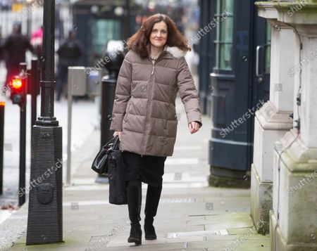 Theresa Villiers, Secretary of State for Environment, Food and Rural Affairs, arrives for the Cabinet meeting in Downing Street.