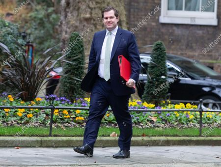 Stock Picture of Robert Jenrick, Secretary of State for Housing, Communities and Local Government, arrives for the Cabinet meeting in Downing Street.