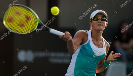Anastasia Rodionova of Australia in action during the second round at the 2020 Adelaide International WTA Premier tennis tournament