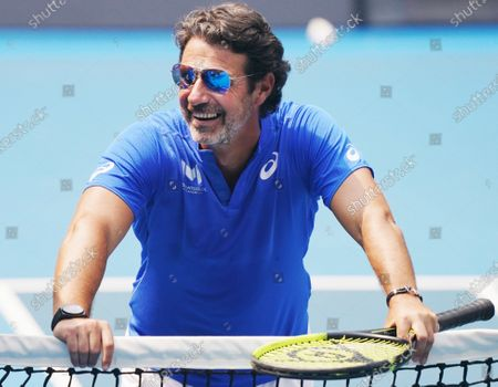 Greek-French tennis coach Patrick Mouratoglou at Melbourne Arena during a practice session ahead of the Australian Open 2020 at Melbourne Park in Melbourne, Victoria, Australia, 14 January 2020. The Australian Open 2020 will take place at Melbourne Park from 20 January to 02 February.