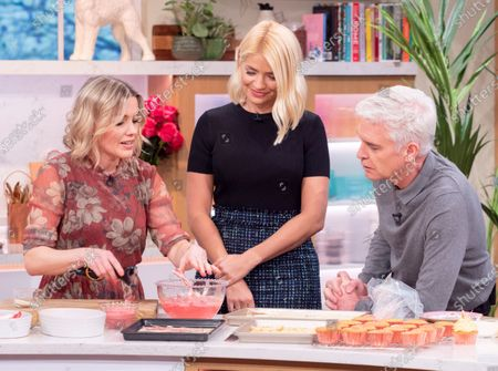 Phillip Schofield and Holly Willoughby with Juliet Sear
