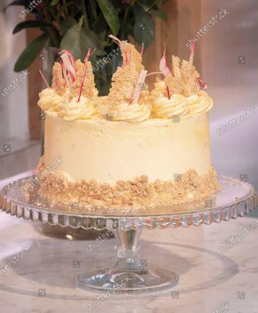 Juliet Sear - Rhubarb Crumble and Custard Cake