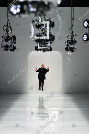 Stock Image of Silvia Venturini Fendi on the catwalk