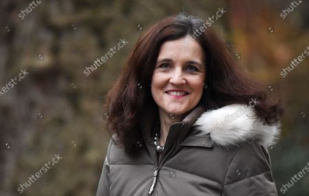 British Secretary of State for Environment, Food and Rural Affairs Theresa Villiers arrives for a cabinet meeting at 10 Downing Street in London, Britain, 14 January 2020.