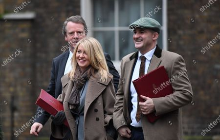 (L-R) British Secretary of State for Scotland Alister Jack,  British Minister of State for Housing Esther McVey and British Minister of State (Minister for the Northern Powerhouse and Local Growth) Jake Berry arrive for a cabinet meeting at 10 Downing Street in London, Britain, 14 January 2020.