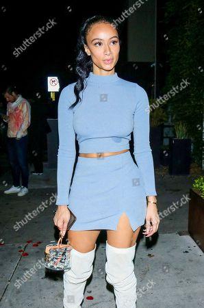 Draya Michele outside Poppy Nightclub in West Hollywood