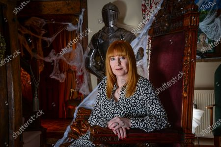 Stock Image of Yvette Fielding - 'My Haven' the Living Room of her Haunted Cheshire Farmhouse
