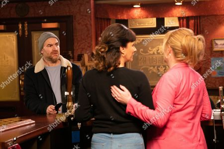 Coronation Street - Ep 9989 Friday 24th January 2020 - 2nd Ep Having borrowed money from Steve and Kevin, Tim Metcalfe, as played by Joe Duttine, hands Charlie, as played by Sian Reeves, a cheque for £5k and urges her to go to the solicitors and sign the divorce papers. But when Tim calls in the Rovers he's horrified to discover Charlie working behind the bar, what is she up to?