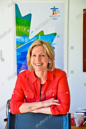 Stock Picture of Hazel Irvine - 'My Haven' the Garden Office at her Scottish Home
